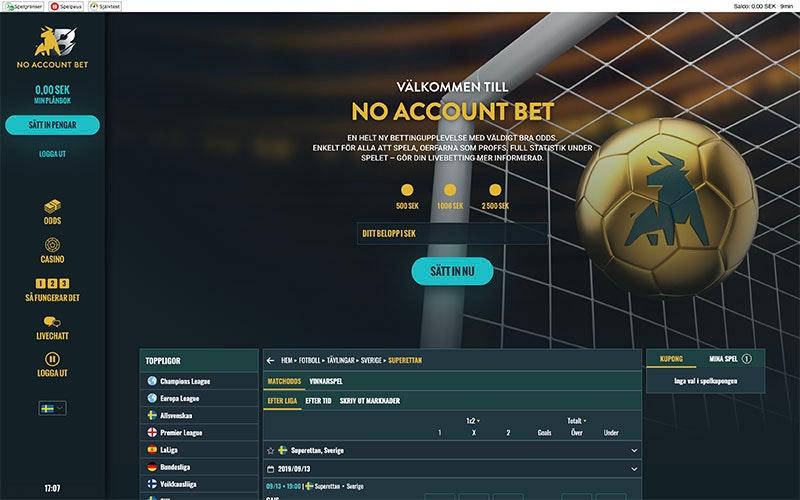 No account bet 369405