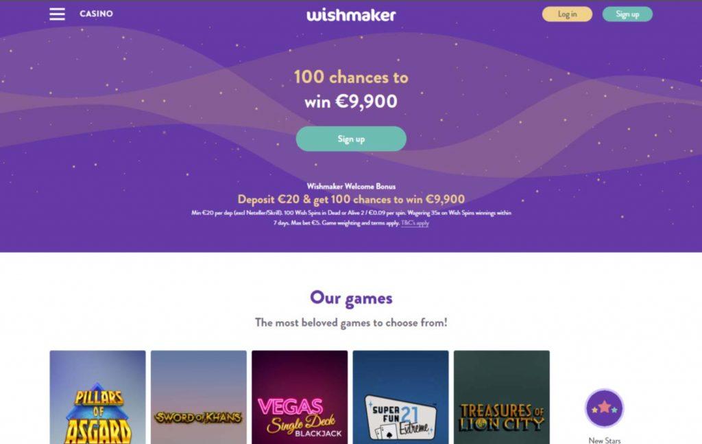 Häftigaste välkomstbonus Wishmaker casino 544910